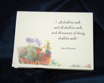 All Shall Be Well...and All Manner of Thing Shall be Well -  5  Prayer Cards
