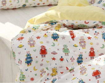 Robots Cotton Fabric, Oxford Cotton Fabric - By the Yard 89068