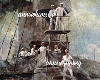 Navy Art Print United States Navy Print, World War Era, Gift for Sailor, Gift For Military   #341