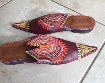 Beautiful handmade leather shoes size 5-6