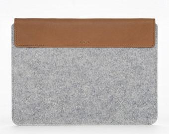 MacBook Air 11 Sleeve - Apple Laptop MacBook Case - MacBook Air Cover - MacBook Air 11 Grey Felt - MacBook Felt Case - Mac 11 inches