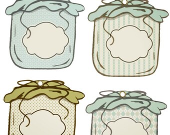 Covered Jar Journaling Tags