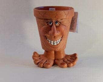 Face Pot - People Pots - Unique Gift Items - Face Pot Planter - People Pot Planter - Our Family Crafts