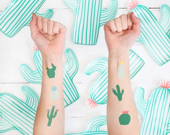 Cactus Party Temporary Tattoos Party Bag Filler Wedding Favour Party Favour Children's Gift Ideas