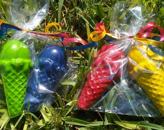 20 bags w/ 2 ice cream cone crayons. Ice cream party favors. Ice cream party. Sweet party decor. Candy party favors,