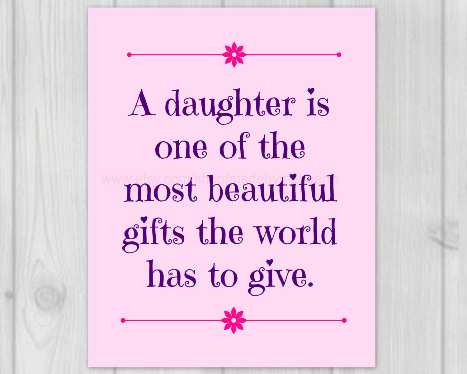 Dad Quote 8x10 Art Print New Daddy Gift Baby Girl Decor