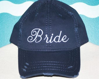 Custom bride Baseball Cap - embroidered bride baseball hat - Great custom gift - baseball hat embroidered - personalized hat