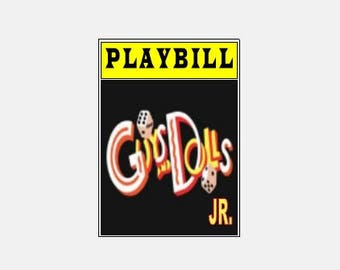 Theater / Show Charm - Playbill Play Bill - Guys and Dolls JR