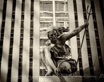 Fine Art Photo Print--Portlandia Statue--Fine Art Black and White Photography 8x10
