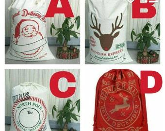 Personalized Santa Sack, Santa Sack, Santa Sack with Name, Christmas Gift Sack, Christmas, Christmas Gift
