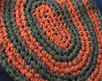 Hand Crochet Rag Rug