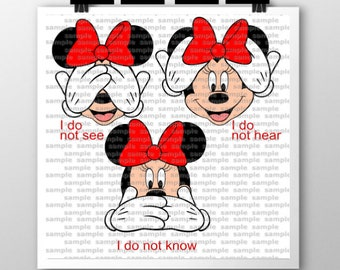 Minnie-See, Hear, Know SVG