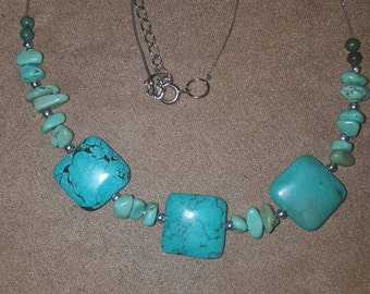 "19""-21"" adjustable Magnesite necklace"