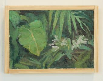 original painting / botanical wall art / jungle theme / tropical decor / contemporary art by Michelle Farro