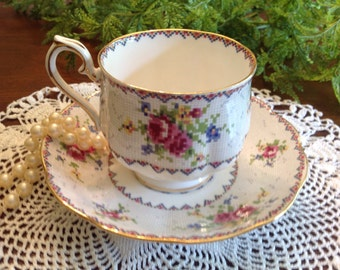 Royal Albert Petit Point Teacup and Saucer