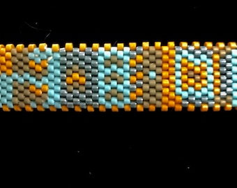 Large Handmade Seed Bead Barrette Hair Accessory Special Occasion Southwestern Hair Jewelry Hair clip
