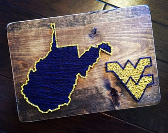 West Virginia Mountaineers String Art - State of WV