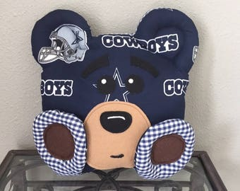 Dallas Cowboys Handmade Stuffed Bear