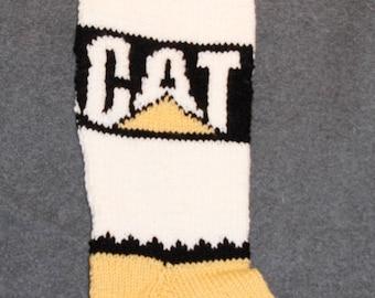 CAT (Caterpillar) Personalized Knit Christmas Stocking
