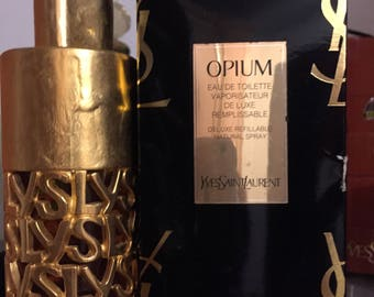 Opium VINTAGE eau de toilette 75 ml - 2.5 FL.OZ by Yves St Laurent spray refillable new never used with box gold canister