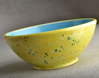 Soup Cereal Bowl Stoneware Soup Cereal Serving Bowl by Symmetrical Pottery