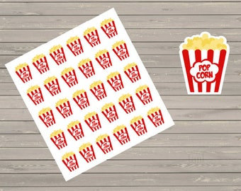 Popcorn Planner Stickers Popcorn Boxes Movie Night Stickers Fits Erin Condren Movie Night Stickers Popcorn Box Stickers