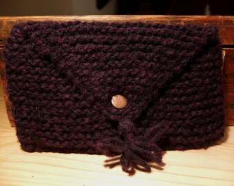 Wool with Pom Pom and lined in fabric pouch