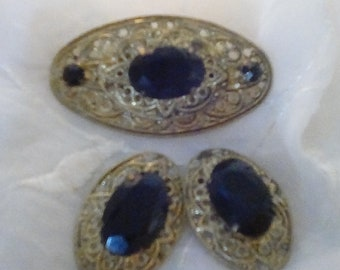Brooch and Matching Earrings