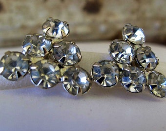 Rhinestone Earrings Estate Jewelry Bridal Wedding Jewelry Formal Wear Earrings