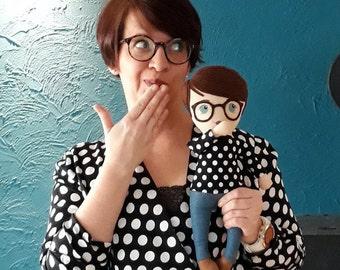 Mini-MiniMe, personalized portrait doll, individual rag doll