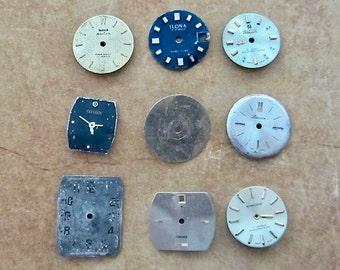 Vintage Antique Watch  Assortment Faces - Steampunk - Scrapbooking d39