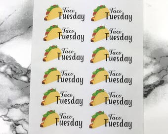 F049 Taco Tuesday Planner Sticker