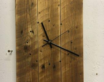 Wall Clock - Reclaimed Wood - Rustic Wall Clock - Reclaimed Wood Clock - Pallet Wood Clock - Wall Clock - Rustic Clock - Shabby Chic Clock
