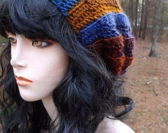 Hand Crochet Slouch Womens Beret, Crochet Tam, Slouchy Hat, Slouchy Beanie, Womens Hat, Womens Slouch Beanie, Winter Hat Accessories