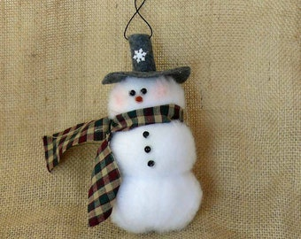 Plush Fabric Snowman Christmas Tree Ornament Package Tie On Winter Holiday Decoration