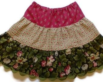 Girls Floral Skirt, Twirl Skirt, Fall Skirt, Toddler Floral Skirt, Little Girl Skirt, Girl Fall Skirt, Toddler Fall Skirt Floral Skirt