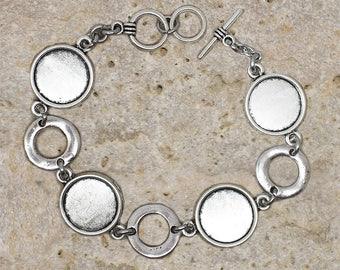 Bracelet 14 mm round cabochon