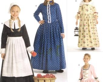 Pilgrim Colonial Prairie américaine début simplicité 3725 filles COSTUMES couture patron ANDREA SCHEWE