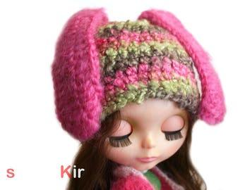 SimplyKir Blythe Sad Bunny BLYTHE HAT  (PreMade)