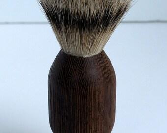 shaving brush, silvertip badger hair, wenge