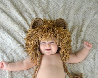 Lion Hat - Baby Lion Wig - Halloween Costume Lion Hats Costumes for Kids