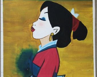 Disney's Mulan Acrylic Painting