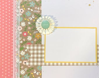 Spring Pre-Made Double Page Scrapbook Layout