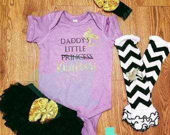 Daddy's little khaleesi BodySuit Shirt Onesie, Game of Thrones Baby,  Baby Girl, Game of thrones, Mother of dragons, GOT princess, targaryen