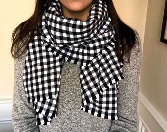 Plaid Blanket Scarf/Shawl