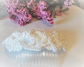 Vintage wedding headdress/lace and rhinestones wedding headdress/vintage wedding/Bridal/tocados comb/headdresses/Romantic style/boho style