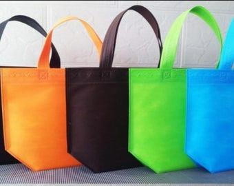Set of 10 non woven bags Orangr