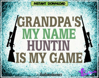Hunting Grampa, Cut File,EPS, SVG, PNG, Vector