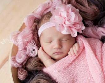 Pink Baby Headband, Baby Headbands, Pink Headbands, Newborn Headbands, Photography Prop