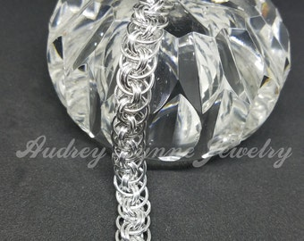 Viper Chainmaille Bracelet - Shiny Aluminum